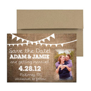 rustic burlap photo magnet