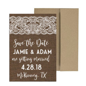 rustic burlap and lace