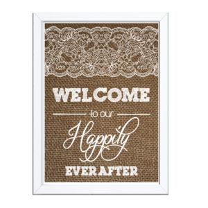 Burlap Wedding Welcome Sign