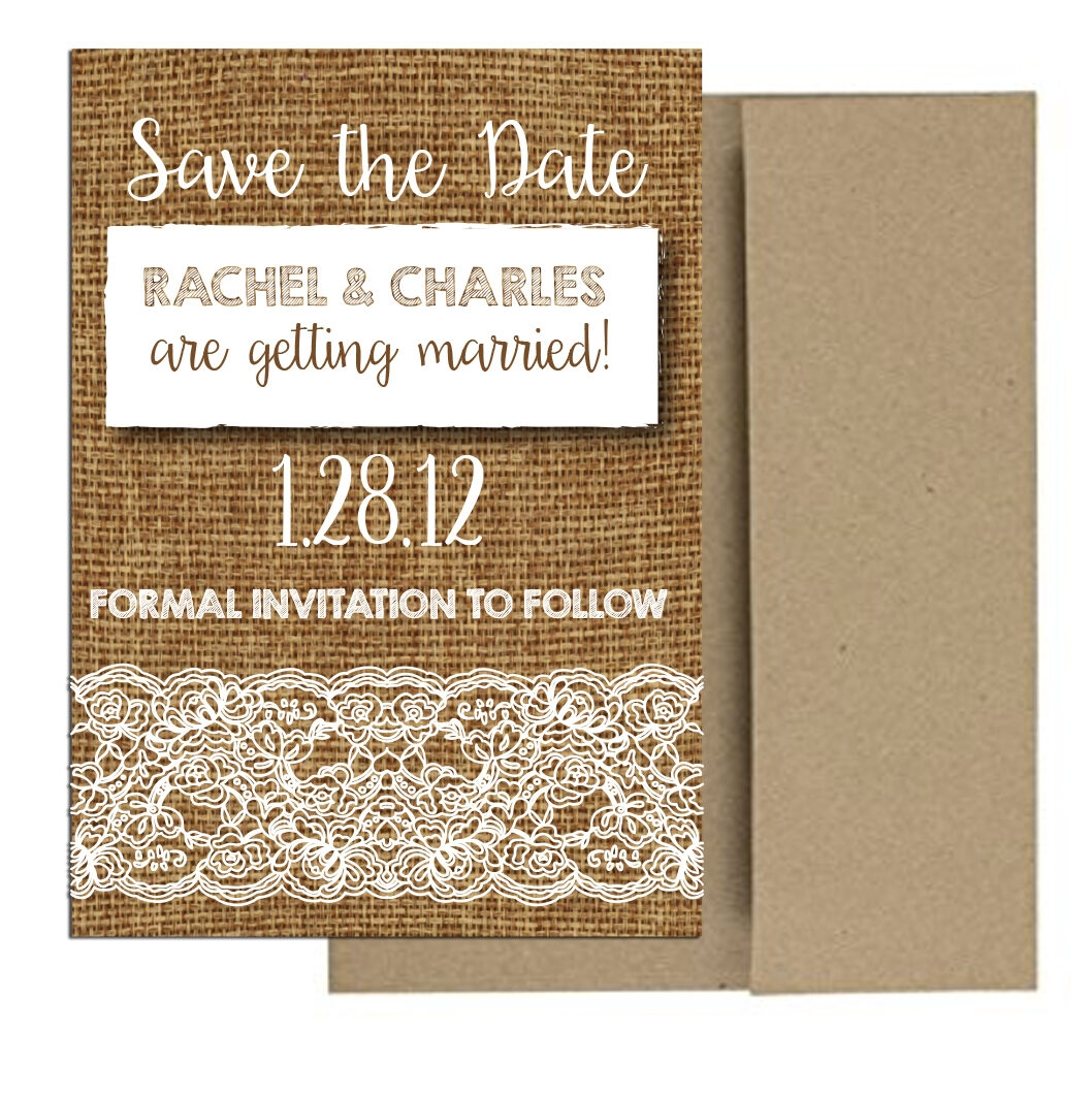 burlap and lace magnet