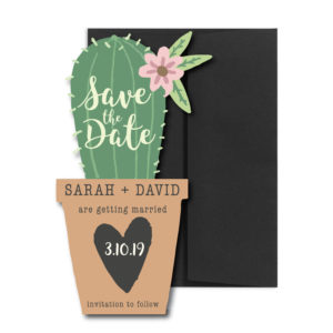 Cactus Shaped Save the Date