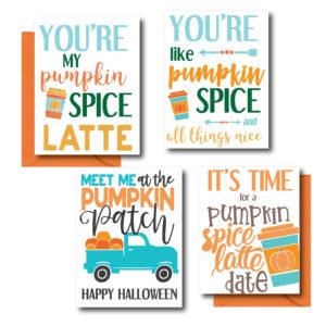 Pumpkin Themed Fall Cards
