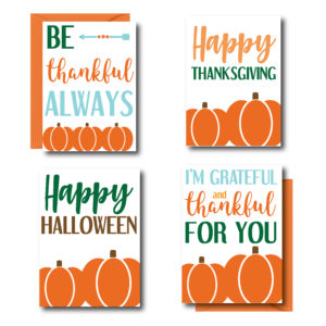 Pumpkin Cards for Fall