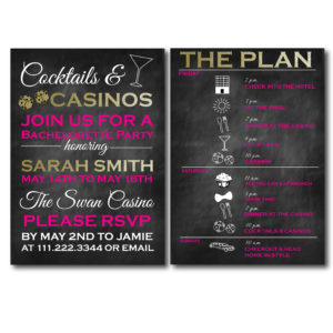 Casino Themed Bachelorette Invite