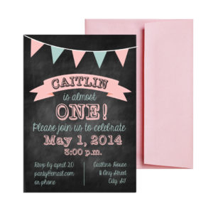 Pink Chalkboard party invite