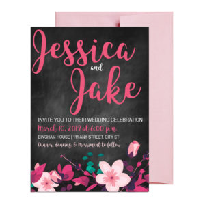 Chalkboard Floral Invitations