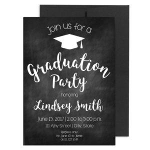 Simple Chalkboard Graduation Invite