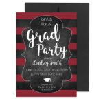 Chalkboard Cursive Graduation Invite