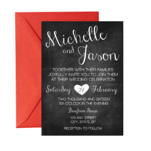 Chalkboard Cursive Wedding Invite