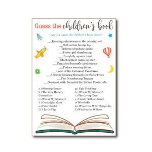 Children's Book Game