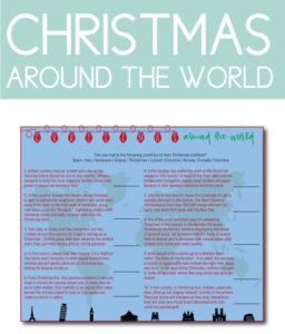 Christmas Around the World Traditions Game