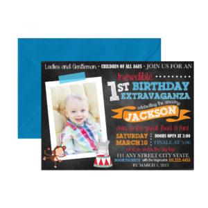 circus themed photo invite