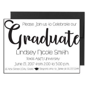 Classic Cursive Graduation Invite