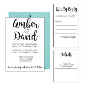 Simple Classic Wedding Invite
