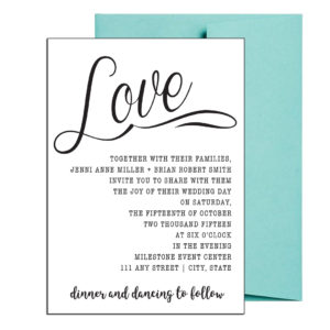 Cursive Wedding Invite Simple Style