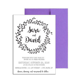 Simple Floral Wedding Invite
