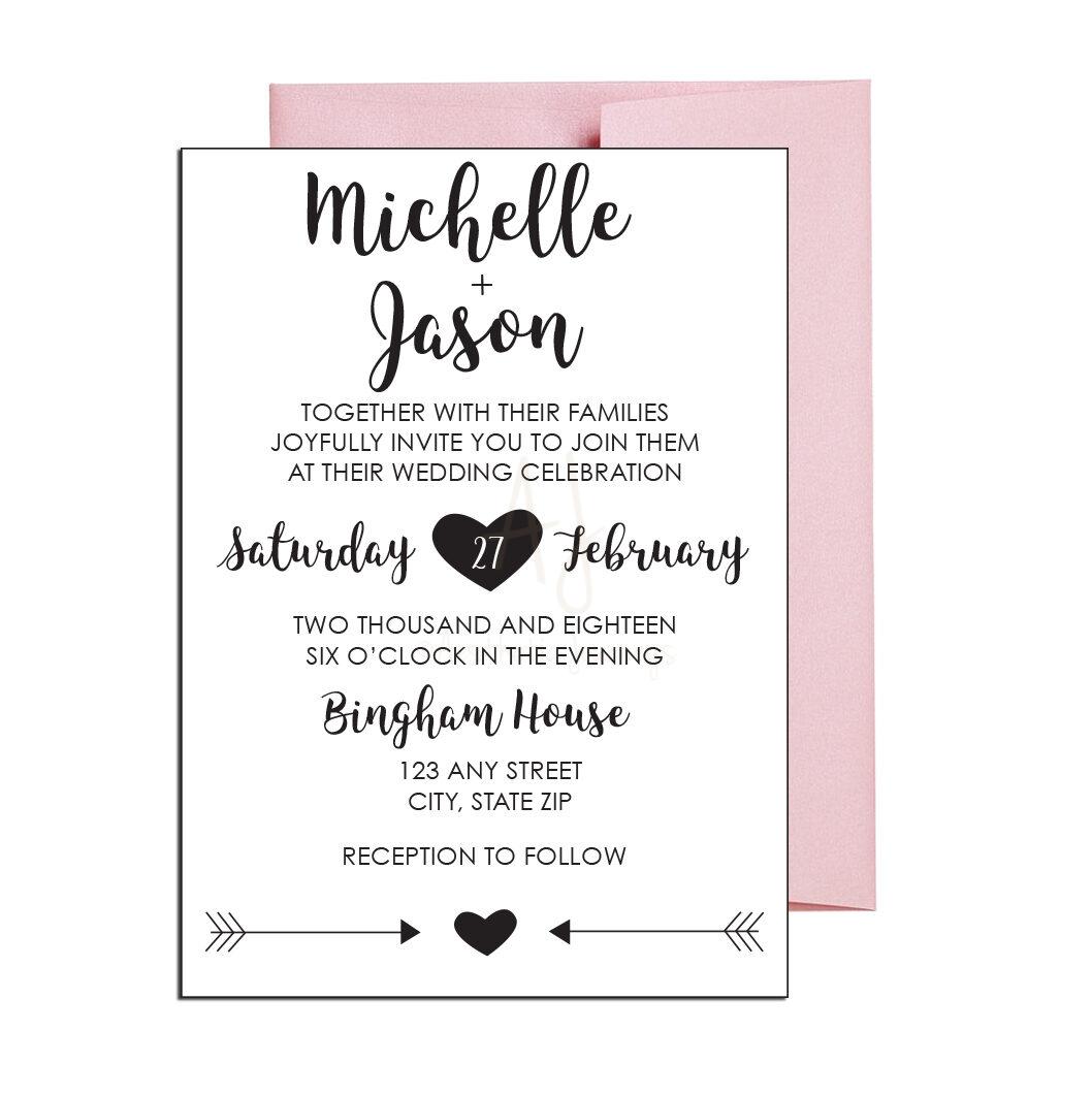 Classic Wedding Invite with Cursive
