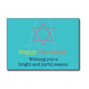 Colorful Happy Hanukkah Card