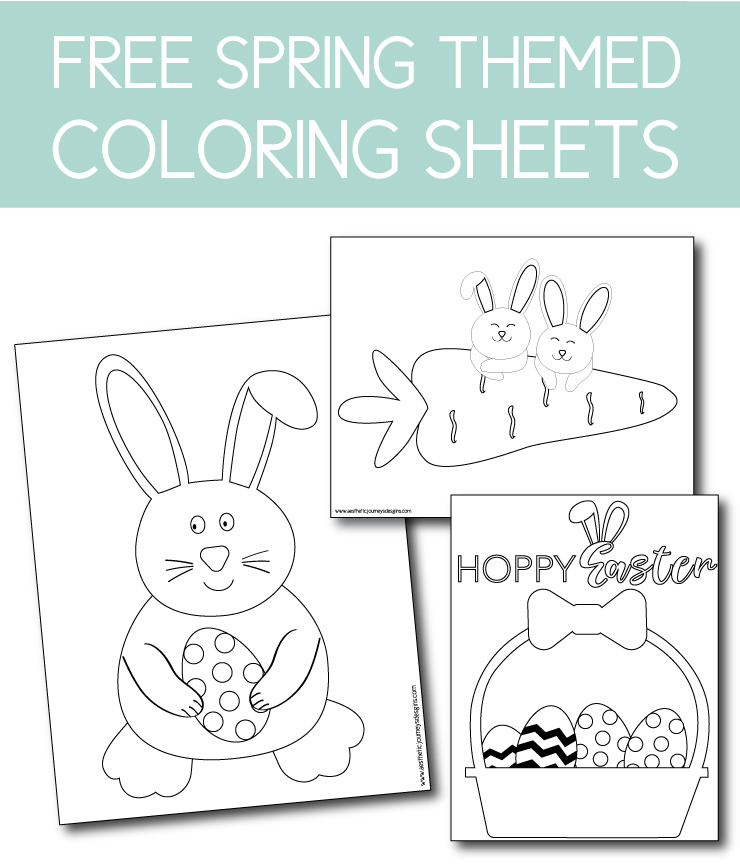 Download free spring coloring pages on the Journey Junkies page