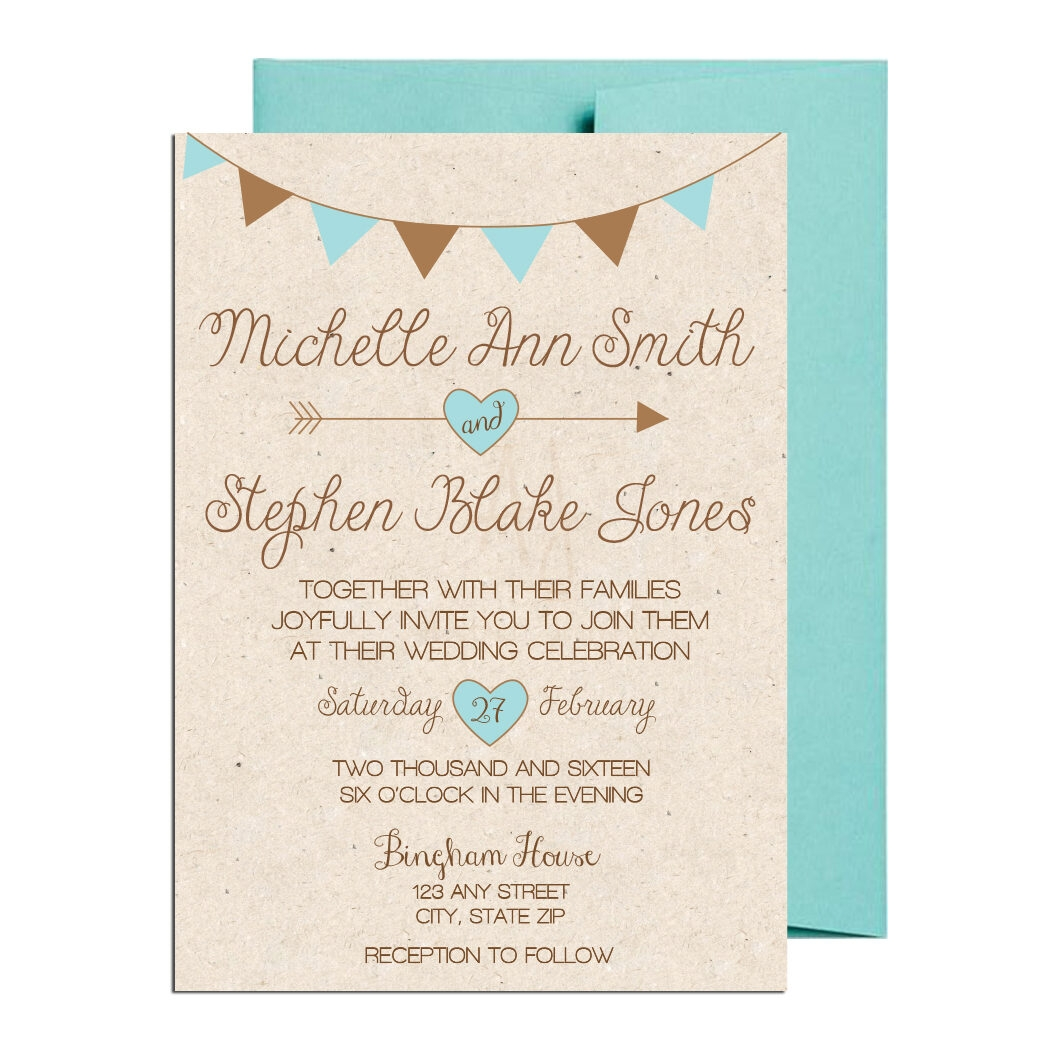 Teal Country Themed Invite