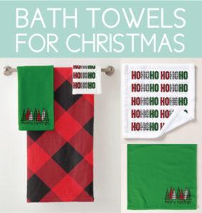 Christmas Bath Towels