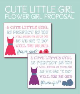 A Cute Little Girl Flower Girl Proposal