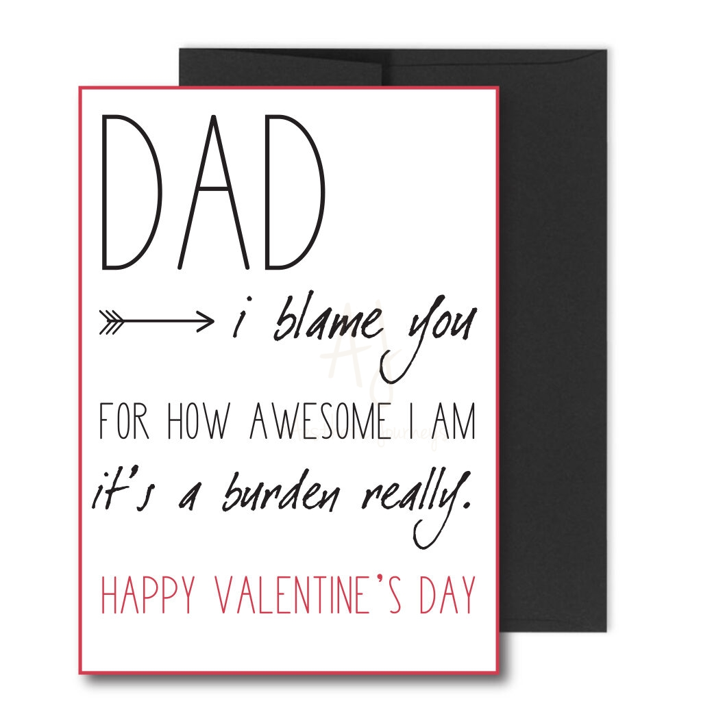 Funny Valentine's Card for Dad