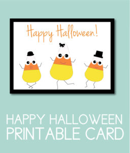 Halloween Card with Dancing Candy Corn