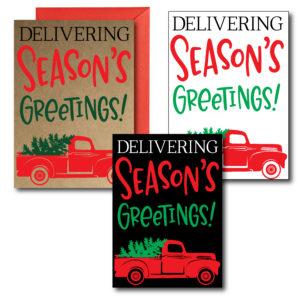 Printed Seasons Greetings Holiday Cards