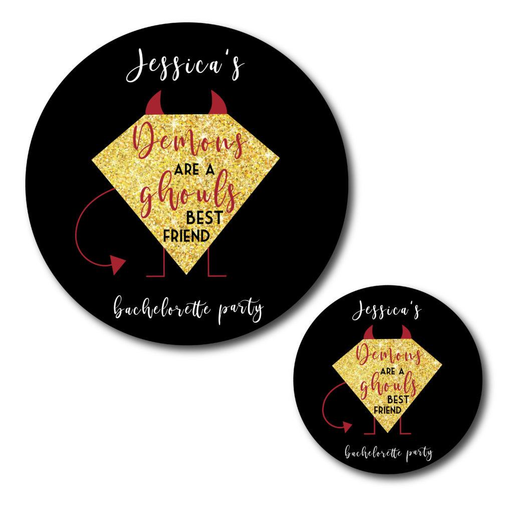 Demon Themed Bachelorette Stickers