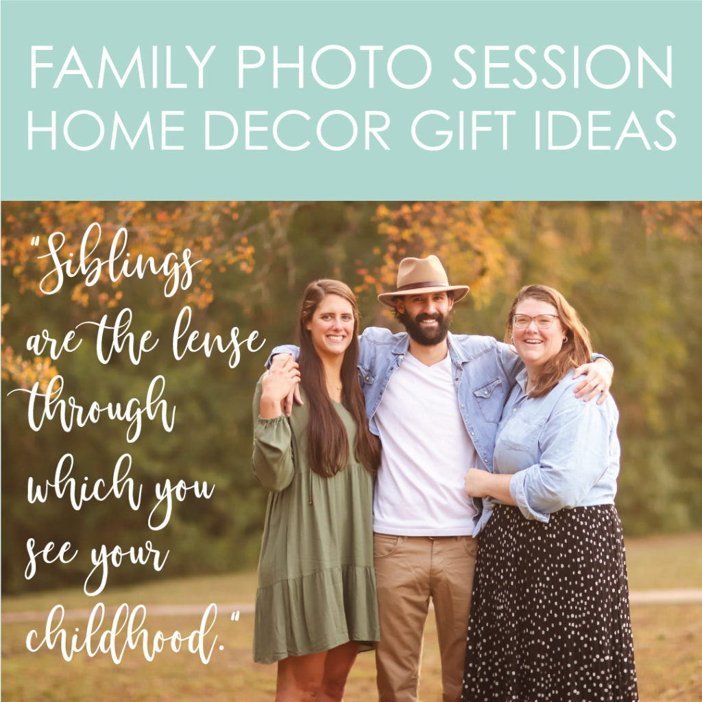 Creative home decor with photos from your family session