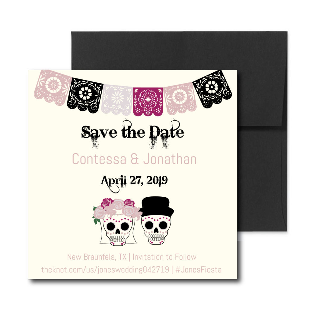 Fiesta themed Save the Date