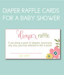 Floral Diaper Raffle cards for the Spring Baby ShowerFloral Diaper Raffle cards for the Spring Baby Shower