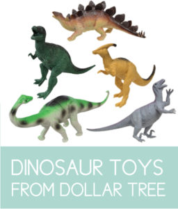 Dinosaur Toys from Dollar Tree for extra decor