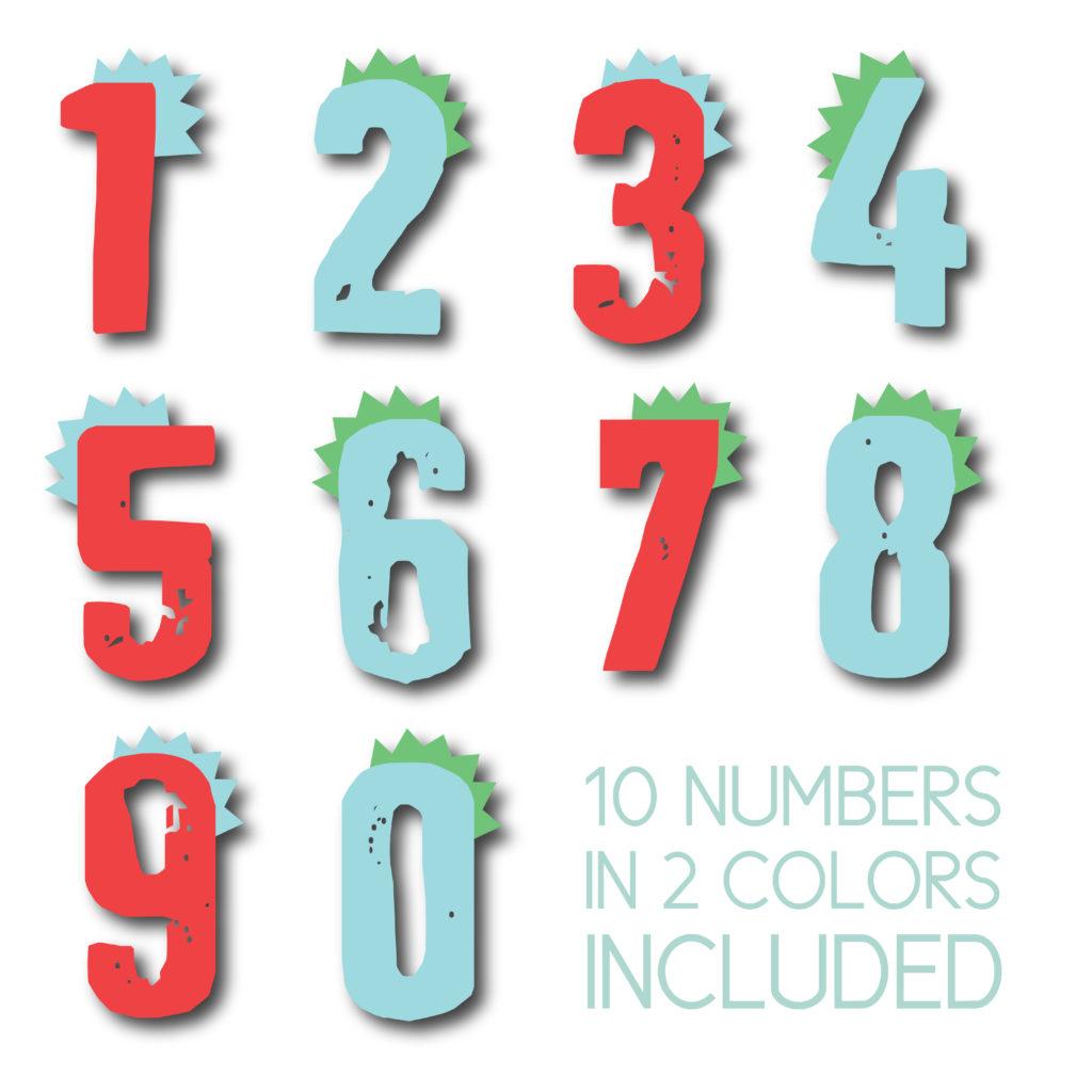 Dinosaur Themed Numbers