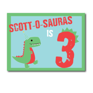 Personalized Dinosaur Party Sign