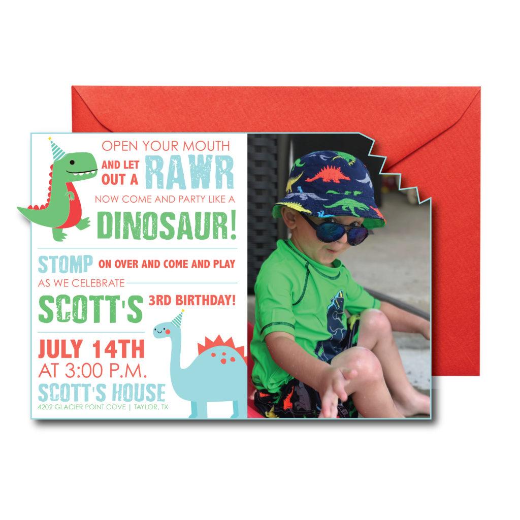 Dinosaur Themed Party Invite