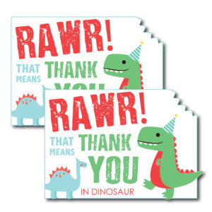 Dinosaur Themed Thank You Card