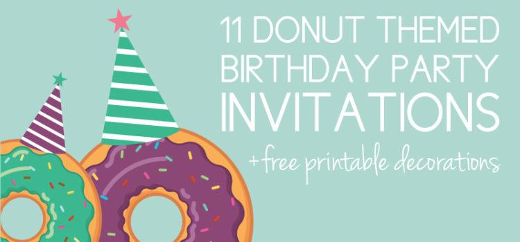 Donut Birthday Party Invites