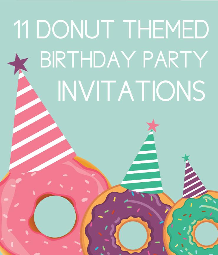 11 Donut Birthday Party Invites