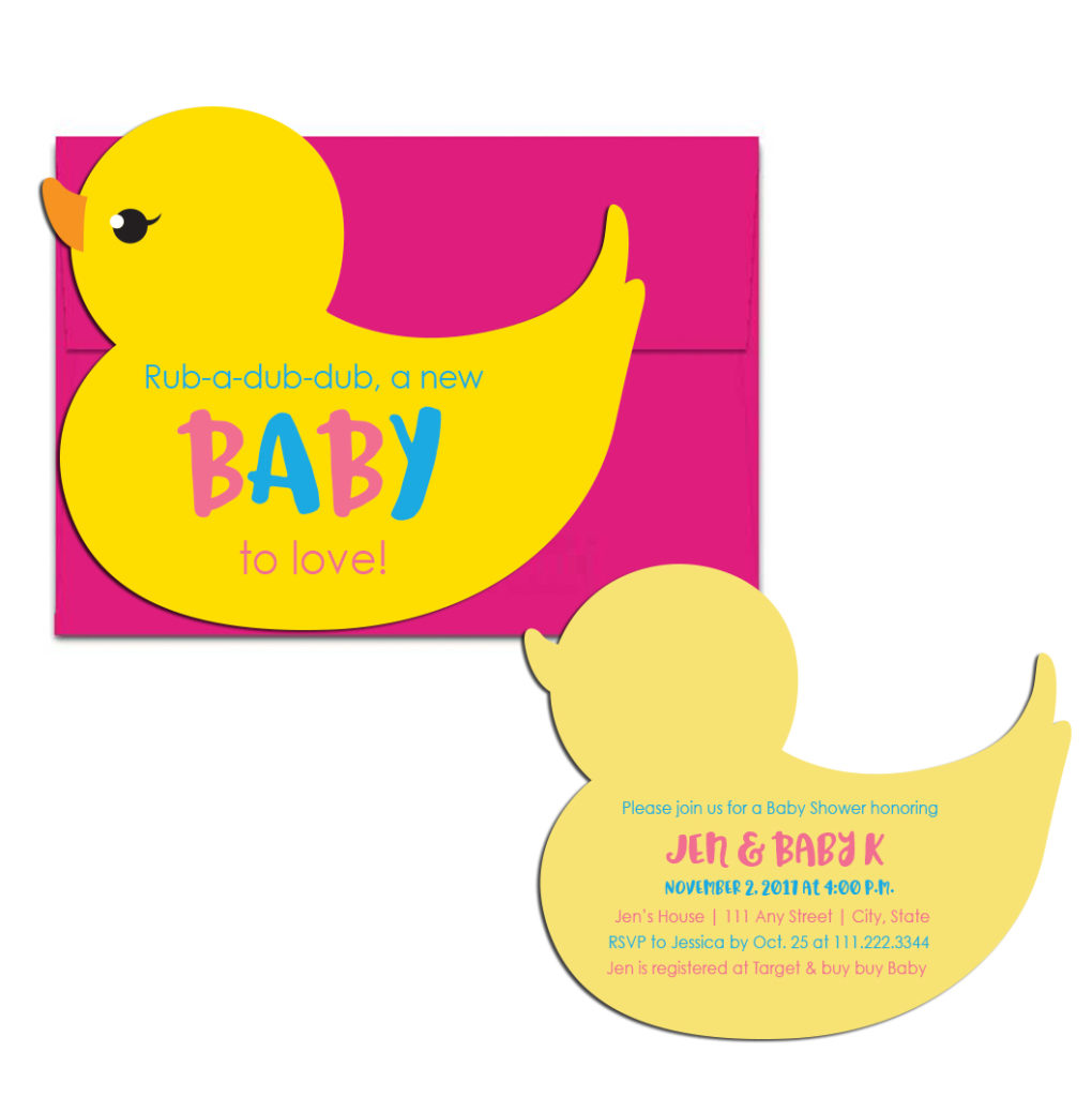 Duck Baby Shower Party Invite