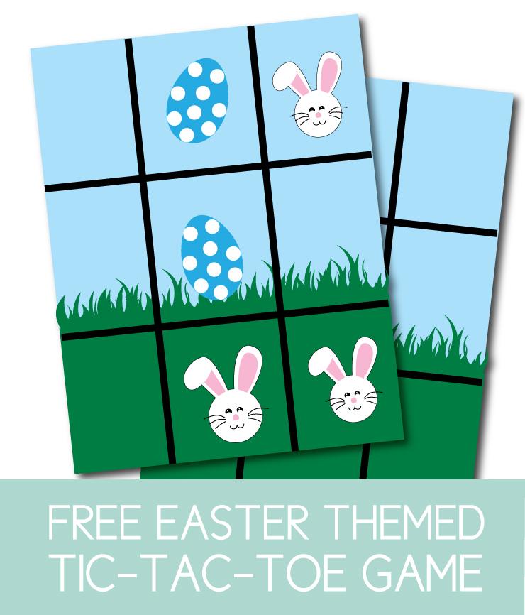 Printable Easter Tic Tac Toe Game