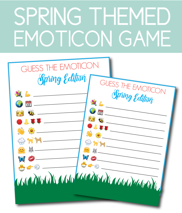 Emoticon Game to play at home