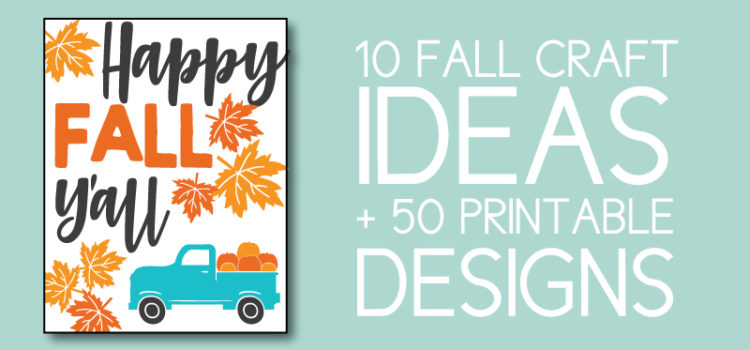 10 Fall Crafts with 50 Printable Designs