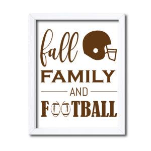 Family Football Sign