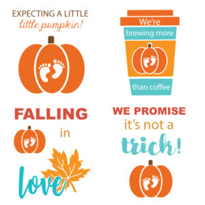 Fall Baby Announcement Signs