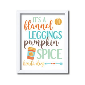 Fall Quote in Orange and Teal