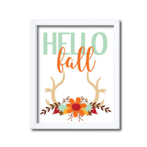 Rustic Hello Fall Sign