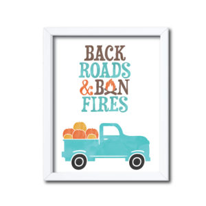 Country Themed Sign for Fall