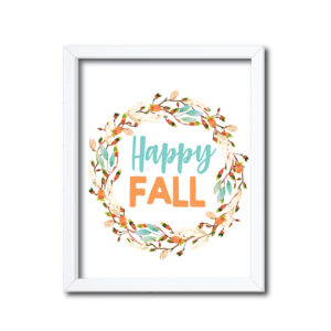 Floral Happy Fall Sign